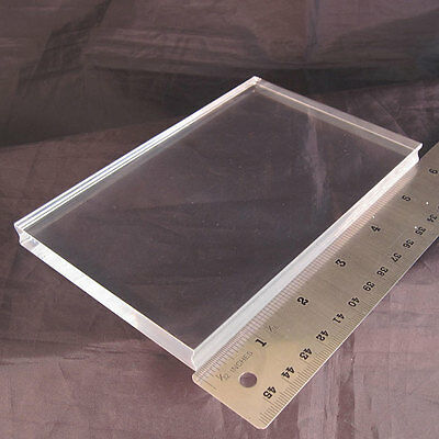PERFECTLY CLEAR HANDLE acrylic stamp block LARGE Stampendous for cling rubber