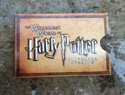 HARRY POTTER UNIVERSAL STUDIOS COLLECTIBLE Card Holder Credit Card Size