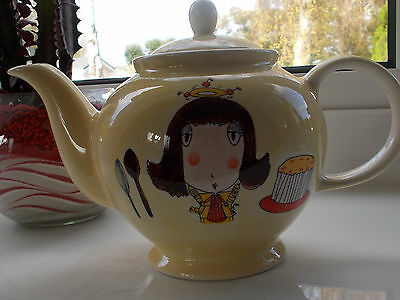WHITTARD OF CHELSEA HAND-PAINTED TEAPOT 'DOMESTIC GODDESS' 'DESIGNED BY BETH'