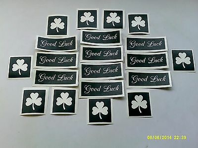 10 - 400 Shamrock & Good Luck stencils for etching on glass  St. Patricks Day