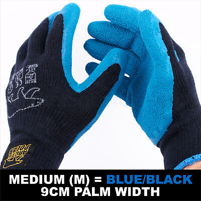 Work Garden Glove Warm Extra Thick H/duty Latex Grip M Size 9Cm