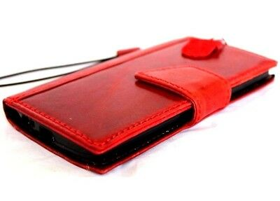 genuine full leather Case for apple iphone 6 plus book wallet slim cover red 6s