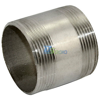 """2"""" Male x  2"""" Male Threaded Pipe Fitting Stainless Steel SS304 BSP NEW INTER"""