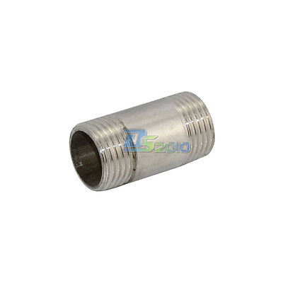 """1/2"""" Male x 1/2"""" Male Threaded Pipe Fitting Stainless Steel SS304 BSP NEW INTER"""