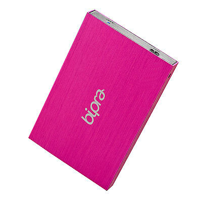 Bipra 320GB 2.5 inch USB 3.0 Mac Edition Slim External Hard Drive - Pink