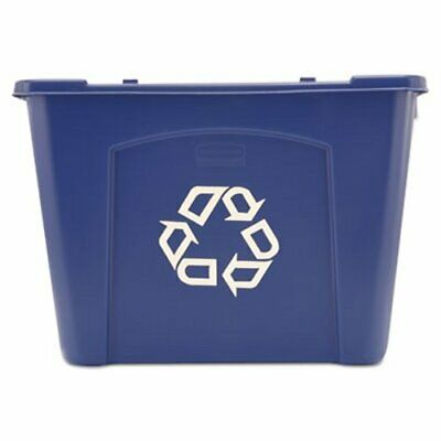 Rubbermaid 571473 Stacking 14 Gallon Recycle Bin, Blue (RCP571473BE)