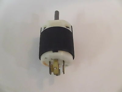 Used HUBBELL Phase 3 Twist Lock 20A 125/250V 4 Prong Plug part # 231A