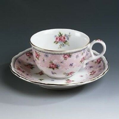 Andrea By Sadek Petit Rose Cup & Saucer(s) RETIRED PATTERN NEW IN BOX