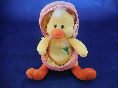 Easter Plush Chicken - Zips Up In His Egg. March Of Dimes 2003 W/tag