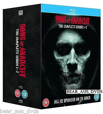 SONS OF ANARCHY 1-7 2008-2014 COMPLETE BIKER Drama TV Seasons Series NEW BLU-RAY