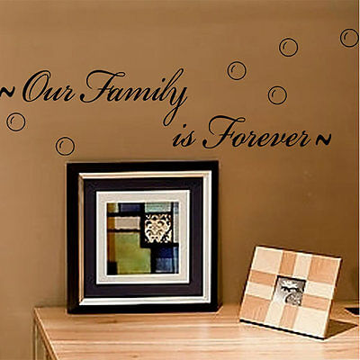 Letter 0ur Family Is Forever Quote Removable Wall Sticker Decal Home Decor DIY