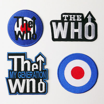 THE WHO - Patch SET OF FOUR Embroidered Iron-On Patches - NEW