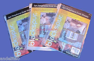 6 of (9x12ft) Heavy Duty Dust sheets for Painting Decorating & protecting items