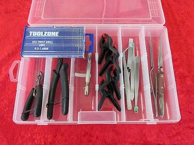 Box Set 6 Craft Model Tool Kit Train Track Cutting Snips & Model Making Repair