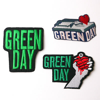 GREEN DAY - Patch Series - Embroidered Iron-On Patches - UK - FREE POST