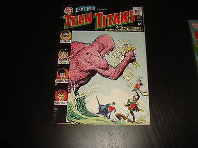 BRAVE AND THE BOLD #60  2nd Teen Titans 1st New Wonder Girl DC Comics 1965 VG