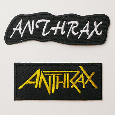 ANTHRAX - Patch SET OF TWO Embroidered Iron-On Patches - UK - FREE POST