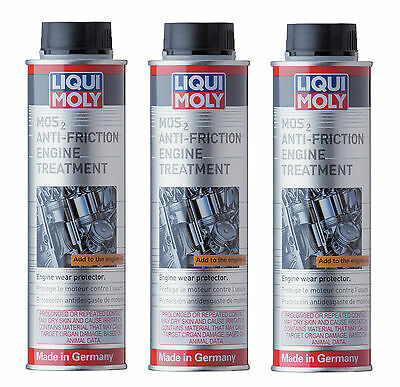 3x Liqui Moly MoS2 Anti-Friction Engine Oil Treatment 300ml LiquiMoly