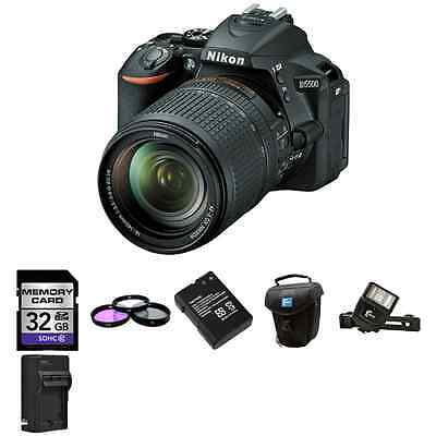 Nikon D5500 DSLR Camera w/18-140mm Lens + 2 Batteries, 32GB, Flash & More