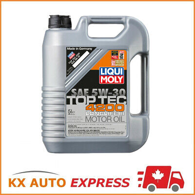 Liqui Moly Top Tec 4200 Longlife III SAE 5W-30 Fully Synthetic Motor Oil 5L 2011