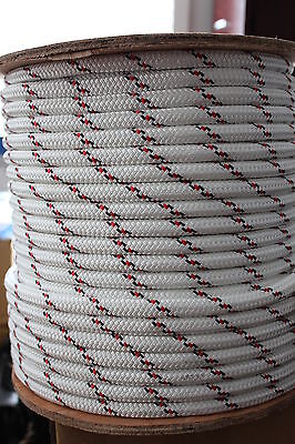 12mm x 100m Polyester Braided Yacht Black/Red ROPE STRONG 2022kg Break load