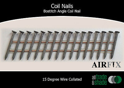 Coil Nails - BACN - Hardened - Mech Gal - Length: 35mm x 2.7mm - Box: 12,000