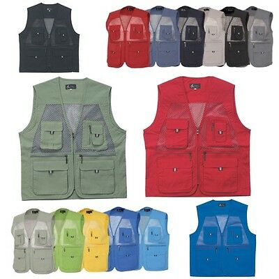 Mens Multi Pockets Fly Fishing Hunting Mesh Vest Mens Travel Outdoor Jacket Top2