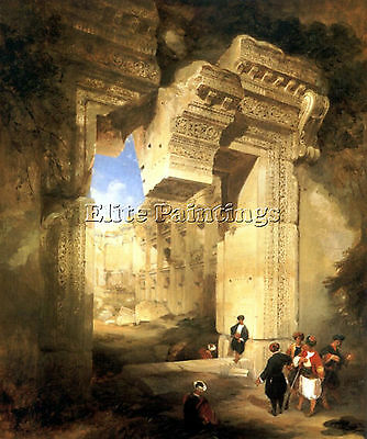 Gateway Great Temple Baalbec Artist Painting Reproduction Handmade Oil Canvas