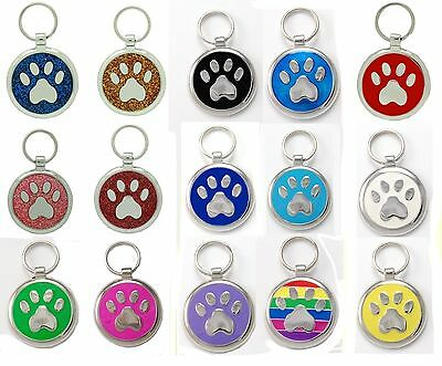Pet Tag Custom Engraving Paw Print  Pet Tags  Charm Collar Dog Tag Pets ID
