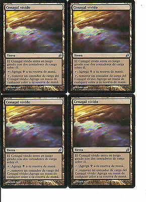 mtg Magic 4x Vivid Marsh ( Cenagal vivido ) Spanish GOOD Lorwyn
