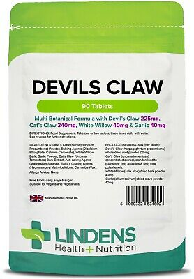 Devils Claw Formula joint and back Tablets (90 pack) Arthritis [Lindens 4692]