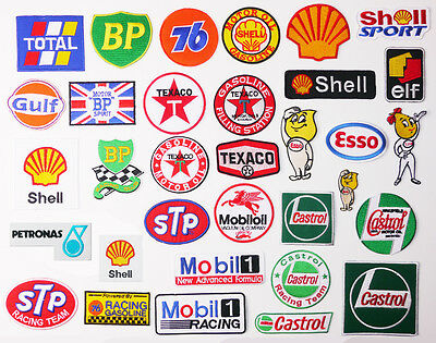 """£1.45 for ANY MOTORSPORT PATCH """"PETROL THEME"""" & Just 80p Max Postage - UK SELLER"""