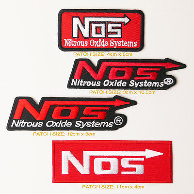 NOS NOTROUS OXIDE SYSTEMS Team Sponsorship Patch Set of FOUR Patches - FREE POST