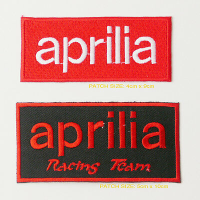 APRILIA RACING TEAM Sponsorship Patch Set of TWO Patches - FREE POST
