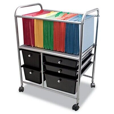 Advantus Letter/Legal File Cart W/ 5 Storage Drawers,Black (AVT34100)