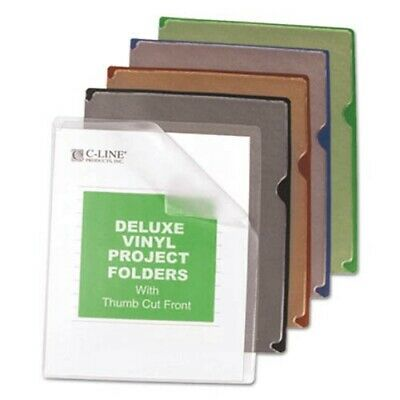 C-line Deluxe Project Jacket Folders, Letter, Assorted Colors 35/Box (CLI62150)