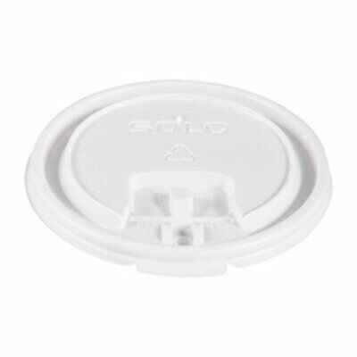 Solo Tab Cup Lids for Foam Cups, 10 oz, White, 1000/Carton (SCCLB3101)