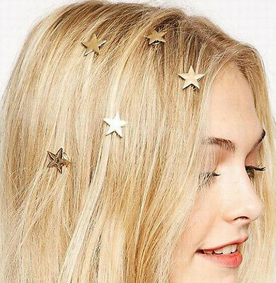 1pc Exquisite Chic Star Golden Lady Swirl Spring HairClip Hairpin Hair Accessory