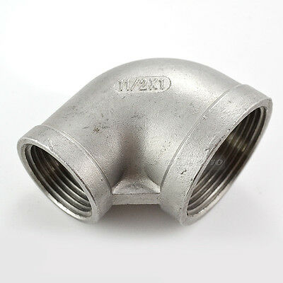 """1-1/2""""X1"""" Female Threaded Elbow Reducer Pipe Fitting 90° Angled SS304 BSP CL"""