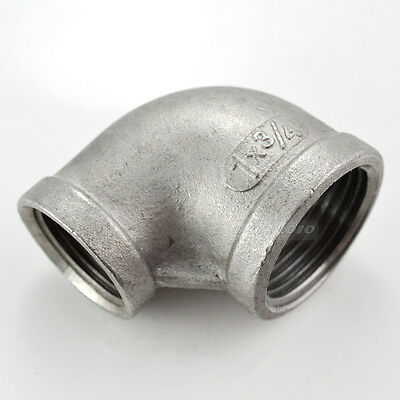 "1""X3/4"" Female Threaded Elbow Reducer Pipe Fitting 90 Degree angled SS304 BSP IN"