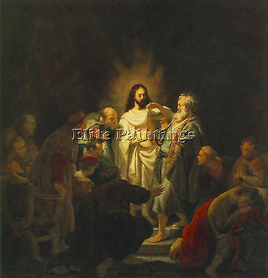 The Incredulity Of St Thomas  Artist Painting Reproduction Handmade Oil Canvas