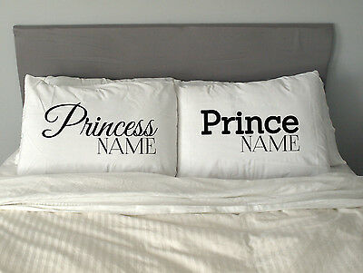Personalised PRINCE & PRINCESS Pillow Case Christmas Love Gift m21