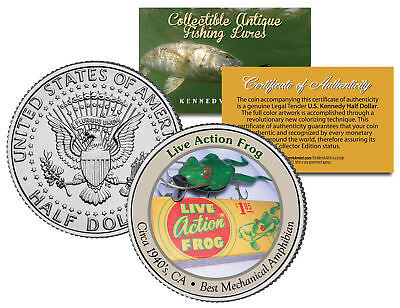 ARGENTINE HORNED FROG *Collectible Frogs* JFK Kennedy Half Dollar US Coin w//COA