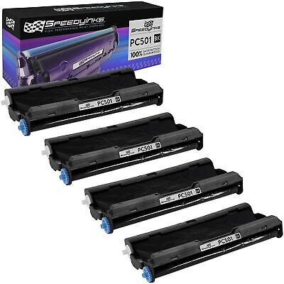 4 Pack Brother PC501 Compatible Fax Cartridge with Roll for Brother FAX 575