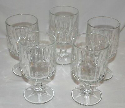 5 Pc. Libbey Duratuff Goblet Ice Tea Glass Clear Winchester