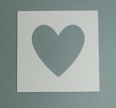 23 cm x 23 cm Heart Shaped  Mounts to fit 6 x 6 inch  Photo & Picture - 5 PACK