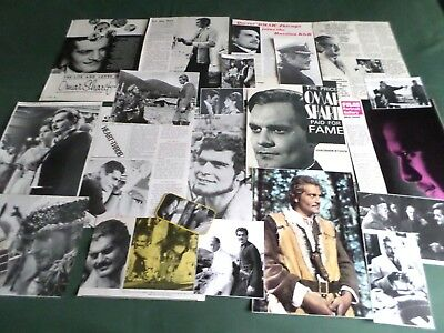 Omar Shaif - Film Star  - Clippings /cuttings Pack