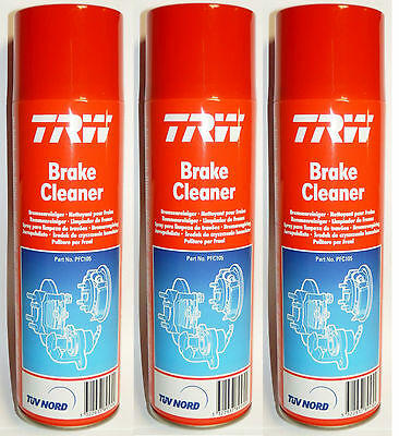 3x TRW Brake / Clutch Cleaner Aerosol Spray 500ml PFC105