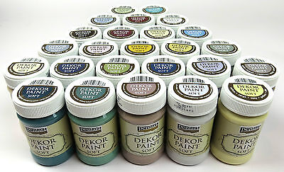 Decor Furniture Paint Soft Shabby Chic Acrylic 100ml Various Colors