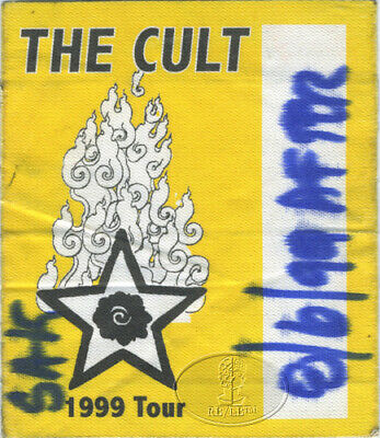 The Cult 1999 Tour Backstage Pass